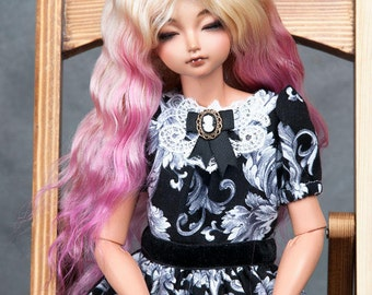 """Ready to ship! Gorgeous blond angora goat wig with ombre effect  for msd or other doll with 7-8"""" head"""