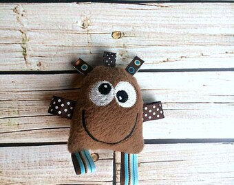 Monster Toy - Baby Monster - Cute Plush Monster - Rattle