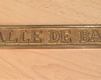 Vintage French Brass Sign