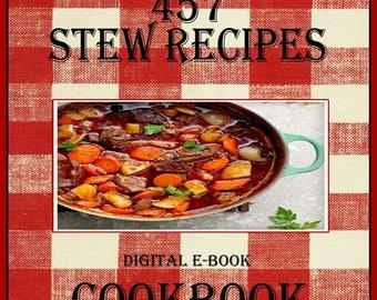 457 Stew Recipes E-Book Cookbook Digital Download