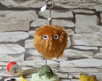 Carl the Mini Monster fur keyring