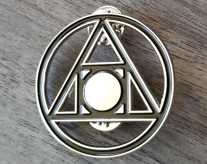 The Squared Circle Enamel Pin