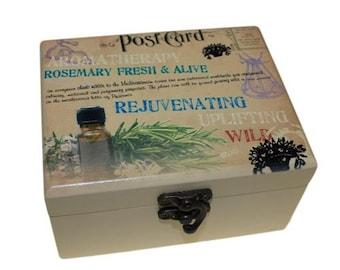 Aromatherapy Box - Holds 12 (Design C)