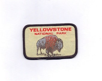 Vintage YellowStone National Park with Buffalo Patch