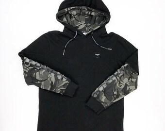 Aape by Bathing Ape Camo Hoodie Sweatshirt Vintage 90s Bape Size Mens XL fits a medium