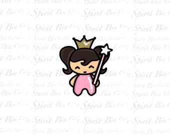 Queen Trista brown hair digital printable