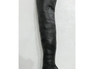 very soft Lamb  leather Thigh high stilleto round toe platform boots made to order 26 inches tall