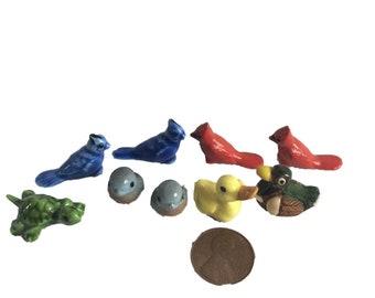 Miniature Glass Animals Fairy Garden Decor