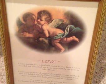 Lovely 8x10 famous 1st Corinthians bible verse framed
