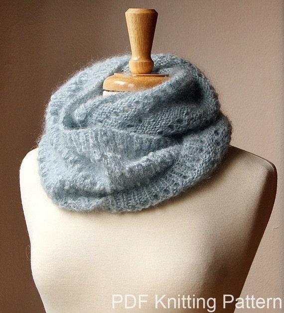 Infinity Scarf Knitting Pattern Fall Winter Fashion Snood