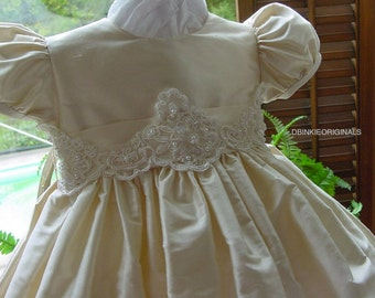 Isabella, Christening Gown ,Hat, Bib with personalization
