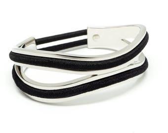 Dual Hair Tie Bracelet, Hair Tie Bracelet Holder - Infinity Silver, Gold, Rose Gold