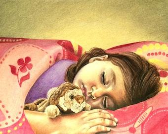 ORIGINAL COLOUR PENCIL Drawings/Illustrations/Portraits, commission work, Various Sizes Available, Challinor Art