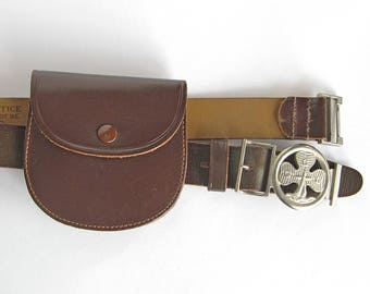 Vintage Girl Guide belt with change pouch