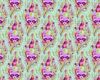 Tula Pink- All Stars -Raccoon in Poppy