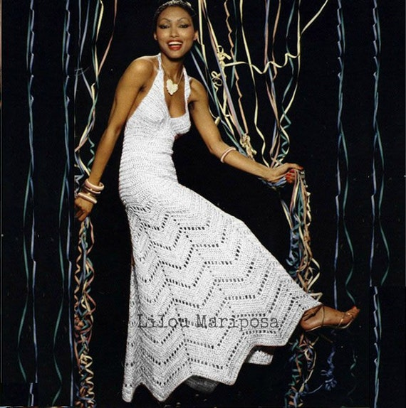 Crochet Dress Pattern Vintage 70s Crochet Wedding Dress Pattern Maxi
