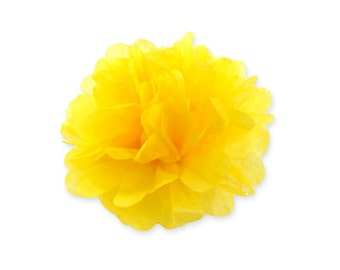 10 Inch Yellow Tissue Pom Poms - Paper Party Decor Decoration Supplies