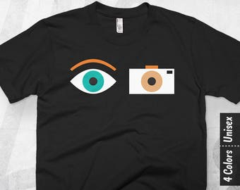 Camera Shirt Women, Photographer Gift, Photographer T Shirt Men, Camera Man Gift, Photography Tee, Film Camera T Shirt, Cameraman Graphic