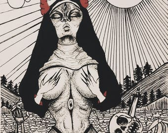 Midnight queen. Print