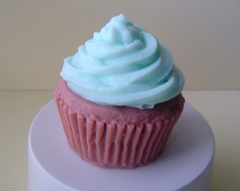 Cupcake Soap - Goat Milk Soap - soap favor , Birthday gift, kids soap,  fake food, shaped soap, for her, blueberry muffin scented, teen gift