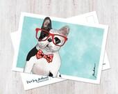 Dog art, dog postcard, Fr...