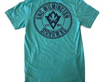 UNC Wilmington Oval Seahawks Basic – T Shirt – Sea green