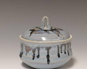 Handmade ceramic lidded jar #1225
