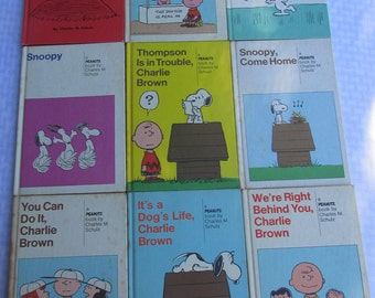 SALE:  Hardcover Charlie Brown Collection / Snoopy Books / 1950s to 1970s by Charles Schulz