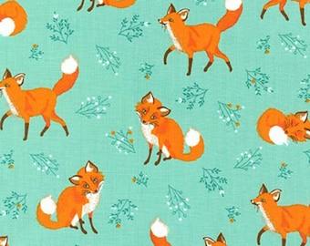 Robert Kaufman - Nature Fox - Forest Fellows - Fabric by the yard