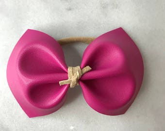 Smooth Pink Bow