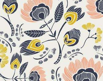 Flora's Oasis in Rosa - Tule collection by Leah Duncan for Art Gallery Fabrics