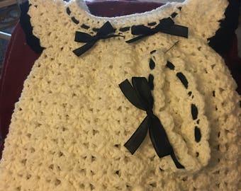 Handmade girl dress crochet new