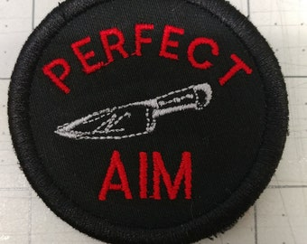 PERFECT AIM adult merit badge