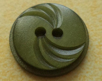 10 buttons green olive green 15mm (5666) button