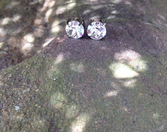 Swarovski clear crystal studs