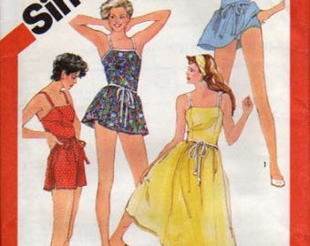 Simplicity Pattern 5991 Misses Fitted Swimsuits and Sundress UNCUT  Size: 10