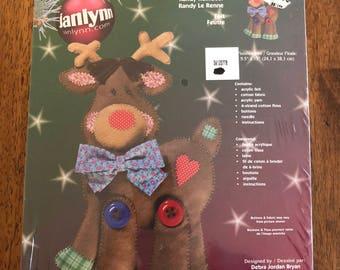 Randy Reindeer Unopened Janlynn Felt Craft Kit