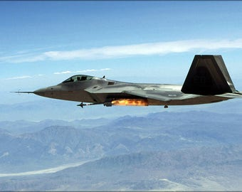 Poster, Many Sizes Available; F-22A Raptor Launches Aim-9M Sidewinder Missile China Lake
