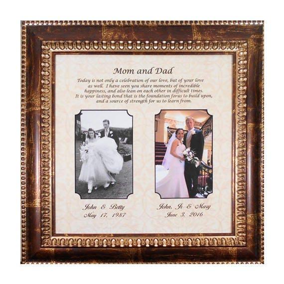 Wedding Gift Parents Bride Gift to Parents Groom Wedding