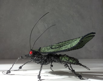 Wire Sculpture, Wire Insect Decor, Office decor, woodland decor, Home Decor, Wire bug, wire beetle, phosphorus, steampunk, gift for men