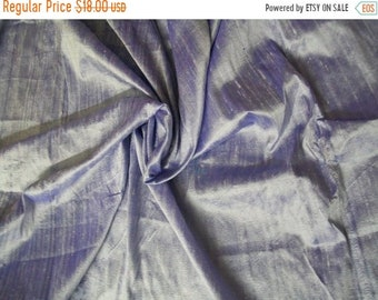 15% OFF One yard of light lavender 100 percent pure  dupioni silk