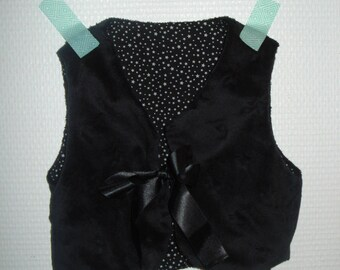 sleeveless vest reversible black velvet star 6 months
