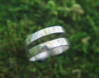 3mm Hammered ring band | Sterling ring band | Simple ring band | Sterling silver stacking ring | 2mm stacking ring | Hammered stacking ring