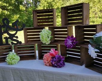 rustic cupcake stand , 12x9 wedding crates , cake stand , rustic wedding decor , rustic wood crates , table centerpiece , rustic wedding ,