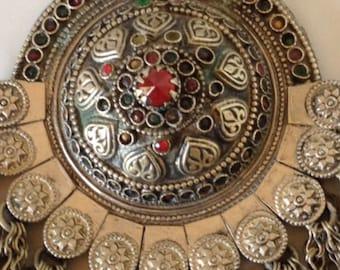 Antique Yemeni Tribal Silver Necklace