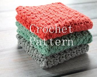 Crochet PATTERN, Crochet Washcloth Pattern, Crochet Dishcloth Pattern, Crochet Pattern, PDF Pattern, Ripple Edge, Spa, Beauty #6