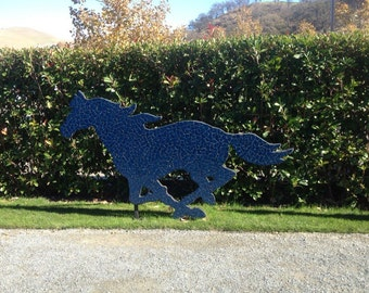 Free shipping, Outdoor horse sculpture, horse sculptures, outdoor sculptures, horses sculpture, running mustang, yard statues