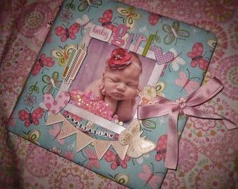 Handmade photo album, babybook