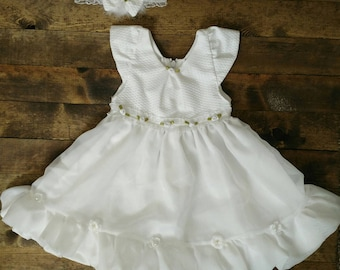 0-3 month baby girl blessing dress, baptism dress, christening dress, white dress, baby girl dress, white infant dress, baby dress, blessing