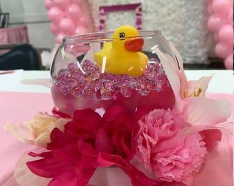 Baby shower duck center pieces